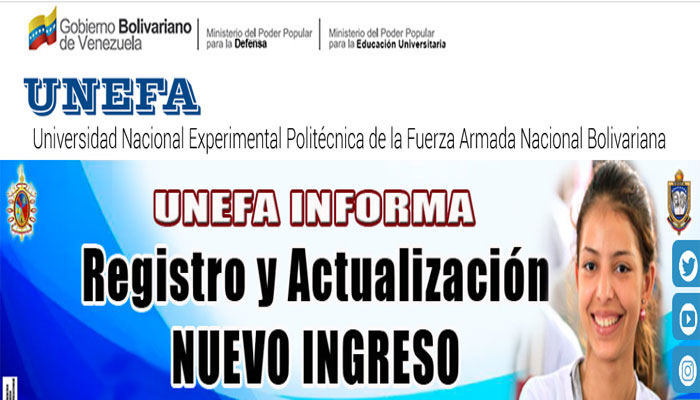 Requisitos para inscribirse en la UNEFA